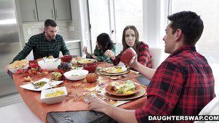 ils ont échangé leurs filles pour thanksgiving